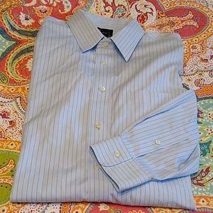 Jos. A. Bank Traveler's Dress Shirt 17 - 34 Blue